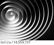 Белая абстрактная 3d спираль из бумаги. Стоковая иллюстрация, иллюстратор EugeneSergeev / Фотобанк Лори