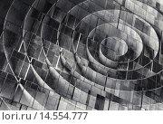 Абстрактный фон из объёмных спиралей, бетонная текстура. Стоковая иллюстрация, иллюстратор EugeneSergeev / Фотобанк Лори
