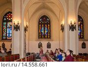 Купить «Интерьер органного зала в римско-католическом костёле», эксклюзивное фото № 14558661, снято 2 мая 2015 г. (c) Светлана Попова / Фотобанк Лори