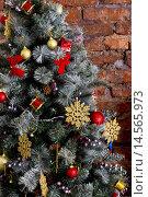 Новогодняя елка. Стоковое фото, фотограф Светлана Микитанская / Фотобанк Лори