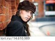 Портрет девушки в кепке. Стоковое фото, фотограф Pavel Reband / Фотобанк Лори