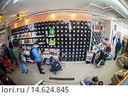 Купить «Customers at the grand opening of The Crate record store in Bushwick in New York on Record Store Day. On Record Store Day music lovers are encouraged to...», фото № 14624845, снято 18 ноября 2018 г. (c) age Fotostock / Фотобанк Лори