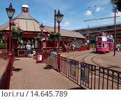 Купить «Seaton tram and ticket office, Devon», фото № 14645789, снято 19 ноября 2019 г. (c) age Fotostock / Фотобанк Лори