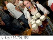 Купить «Oktober Beer Festival Munich 2004, Germany, Bavaria, Munich», фото № 14702193, снято 18 сентября 2004 г. (c) age Fotostock / Фотобанк Лори