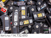 Купить «video tapes storage to recycle, recycling center.», фото № 14732693, снято 23 мая 2019 г. (c) age Fotostock / Фотобанк Лори