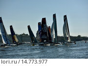 Extreme Sailing Series in St. Petersburg, Russia, фото № 14773977, снято 22 августа 2015 г. (c) Stockphoto / Фотобанк Лори