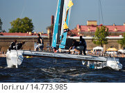 Extreme Sailing Series in St. Petersburg, Russia, фото № 14773985, снято 22 августа 2015 г. (c) Stockphoto / Фотобанк Лори