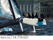 Extreme Sailing Series in St. Petersburg, Russia, фото № 14774021, снято 22 августа 2015 г. (c) Stockphoto / Фотобанк Лори