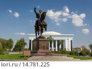 Купить «Amir Timur, Building, Tashkent, Uzbekistan, Central Asia, Asia, architecture, center, city, congress, downtown, government, history, horse, monument, square, tamerlan, tamerlane, touristic, travel», фото № 14781225, снято 16 июня 2019 г. (c) age Fotostock / Фотобанк Лори
