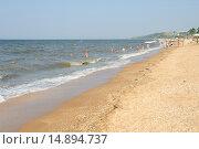 Пляж Азовского моря (2015 год). Редакционное фото, фотограф Александр Овчинников / Фотобанк Лори
