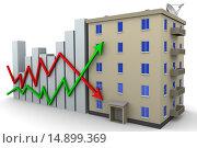 Купить «Концепция изменения цен на недвижимость», иллюстрация № 14899369 (c) WalDeMarus / Фотобанк Лори