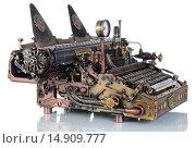 Купить «Пишущая машинка в ретро-футуристическом стиле», фото № 14909777, снято 29 ноября 2015 г. (c) Валерий Александрович / Фотобанк Лори