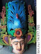 Купить «Sri Lanka, Ambalangoda, carved mask,», фото № 14917765, снято 6 февраля 2014 г. (c) age Fotostock / Фотобанк Лори