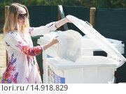 Купить «trash garbage separate utilisation and recycling», фото № 14918829, снято 15 июня 2013 г. (c) Дмитрий Калиновский / Фотобанк Лори