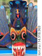 Купить «Sri Lanka, Ambalangoda, carved mask,», фото № 14918969, снято 6 февраля 2014 г. (c) age Fotostock / Фотобанк Лори