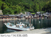 Купить «Funaya, fish boat, Ine, Kyoto, Kinki, Japan», фото № 14936685, снято 21 июля 2018 г. (c) age Fotostock / Фотобанк Лори