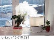 Купить «Увлажнитель воздуха на подоконнике», фото № 15010721, снято 19 февраля 2020 г. (c) Юрий Стройкин / Фотобанк Лори