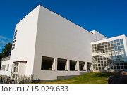 Main library (1935) in functionalist style, designed by Alvar Aalto, Vyborg, Karelia, Russia, Europe. Стоковое фото, фотограф Peter Erik Forsberg / age Fotostock / Фотобанк Лори