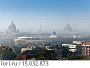 Купить «Индия. Вид на Дели в утреннем тумане», фото № 15032873, снято 27 января 2014 г. (c) Куликов Константин / Фотобанк Лори