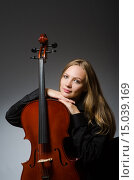 Купить «Woman playing classical cello in music concept», фото № 15039169, снято 20 сентября 2015 г. (c) Elnur / Фотобанк Лори