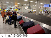 Купить «bagage arrival at schiphol airport.», фото № 15090409, снято 1 августа 2014 г. (c) age Fotostock / Фотобанк Лори