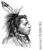 Купить «Tibal chieftain in traditional dress, North America, illustration from Soviet encyclopedia, 1926.», фото № 15099781, снято 20 ноября 2012 г. (c) age Fotostock / Фотобанк Лори
