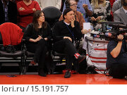 Купить «Celebrities watch the Clippers playoff game at the Staples Center. The Los Angeles Clippers defeated the Golden State Warriors by the final score of 126...», фото № 15191757, снято 4 мая 2014 г. (c) age Fotostock / Фотобанк Лори