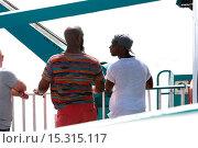Купить «Gumball 3000 on the ferry from Spain to Ibiza Featuring: Tinie Tempah Where: Ibiza, Spain When: 11 Jun 2014 Credit: Owen Beiny/WENN.com», фото № 15315117, снято 11 июня 2014 г. (c) age Fotostock / Фотобанк Лори
