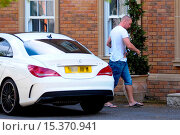 Купить «Wolverhampton Wanderes midfielder, Jamie O'Hara, cuts a lonely figure as he arrives at his home amid reports he and his wife Danielle Lloyd are experiencing...», фото № 15370941, снято 28 июля 2014 г. (c) age Fotostock / Фотобанк Лори