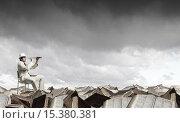Купить «Searching for future perspectives», фото № 15380381, снято 13 июля 2020 г. (c) Sergey Nivens / Фотобанк Лори