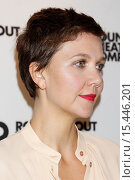 Купить «Meet and greet with Broadway's The Real Thing at the Roundabout Theatre Company - Arrivals. Featuring: Maggie Gyllenhaal Where: New York, New York, United...», фото № 15446201, снято 5 сентября 2014 г. (c) age Fotostock / Фотобанк Лори