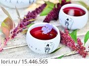 Китайский фарфоровый чайный сервиз с чаем. Стоковое фото, фотограф Петрова Инна / Фотобанк Лори