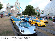 Купить «To celebrate the hit film Need For Speed releasing on Blu-ray and DVD, 20 Supercars spent two days convoying across the country. They ended with a photo...», фото № 15590597, снято 17 июля 2014 г. (c) age Fotostock / Фотобанк Лори
