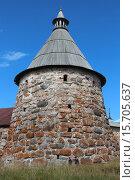 Башня Соловецкой крепости (2011 год). Редакционное фото, фотограф Лидия Хвесюк / Фотобанк Лори