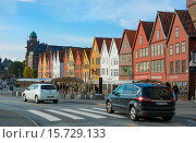 Купить «Bergen Norway Bryggen old town with famous wooden leaning houses landmarks for tourists in BRYGGEN area scenic color.», фото № 15729133, снято 8 июля 2020 г. (c) age Fotostock / Фотобанк Лори