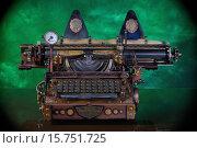 Купить «Модель пишущей машинки в стиле стимпанк», фото № 15751725, снято 29 ноября 2015 г. (c) Валерий Александрович / Фотобанк Лори
