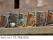 Купить «Creels,lobsters crabs pots Gourdon harbour NE Scotland UK.», фото № 15768833, снято 2 мая 2011 г. (c) age Fotostock / Фотобанк Лори