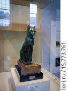 Купить «The Gayer-Anderson Cat, an Ancient Egyptian bronze statue in the British Museum, London, England, UK.», фото № 15773761, снято 19 ноября 2014 г. (c) age Fotostock / Фотобанк Лори