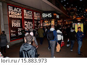 Купить «Shoppers on Oxford street take advantage of Black Friday bargains in London Featuring: Atmosphere Where: London, United Kingdom When: 28 Nov 2014 Credit: Chris Saxon/WENN.com», фото № 15883973, снято 28 ноября 2014 г. (c) age Fotostock / Фотобанк Лори
