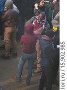 Купить «Riot scenes for the new upcoming movie 'Bastille Day' being filmed in South East London, Greenwich Featuring: Idris Elba Where: London, United Kingdom When: 06 Dec 2014 Credit: WENN.com», фото № 15902985, снято 6 декабря 2014 г. (c) age Fotostock / Фотобанк Лори