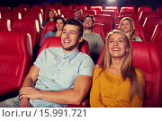 Купить «happy friends watching movie in theater», фото № 15991721, снято 19 января 2015 г. (c) Syda Productions / Фотобанк Лори