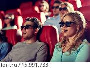 Купить «friends watching horror movie in 3d theater», фото № 15991733, снято 19 января 2015 г. (c) Syda Productions / Фотобанк Лори