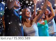 Купить «smiling friends at concert in club», фото № 15993589, снято 20 октября 2014 г. (c) Syda Productions / Фотобанк Лори