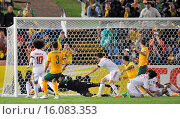 Купить «Australia scored two early goals to defeat the United Arab Emirates in the Asian Cup International 2015 Semi Finals and now face South Korea on the final...», фото № 16083353, снято 27 января 2015 г. (c) age Fotostock / Фотобанк Лори