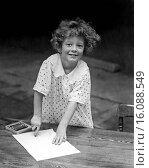 Купить «Lake Placid, New York: c. 1929.A young girl vacationing at the Lake Placid Club does her art on one of the tables there.», фото № 16088549, снято 10 декабря 2019 г. (c) age Fotostock / Фотобанк Лори