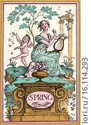 "Купить «Spring. Illustration by Reginald John ""Rex"" Whistler. From The New Forget-Me-Not, A Calendar, published 1929.», фото № 16114293, снято 23 сентября 2018 г. (c) age Fotostock / Фотобанк Лори"