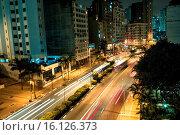 Купить «Avenue Nove de Julho, Capital, São Paulo, Brazil.», фото № 16126373, снято 11 сентября 2014 г. (c) age Fotostock / Фотобанк Лори