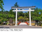 Купить «Japan, Oakayama Prefecture, Shingu, Kurashiki, Kumano Shrine.», фото № 16160521, снято 22 февраля 2019 г. (c) age Fotostock / Фотобанк Лори