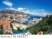 View of the harbour during the Monaco Grand Prix, 1990. Стоковое фото, фотограф GP Library \ UIG / age Fotostock / Фотобанк Лори