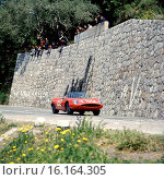 Hans Herrmann-Leo Cella's Abarth 1600 OT Spyder, finishing 6th in the Targa Florio, Sicily, 9 May 1965. Стоковое фото, фотограф GP Library \ UIG / age Fotostock / Фотобанк Лори